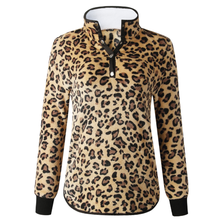 En gros Mode Polaire Pull Leopard Pull Sherpa Femmes Sherpa Pull Avec Poches