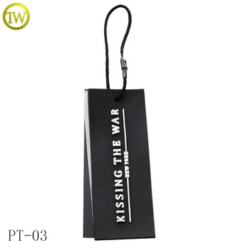 custom printing garment clothes bag clothing pvc transparent clear plastic hang tags