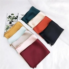 Long Scarf Long Plain Color Polyester Satin Long Scarf Handle Wrap Decoration Silk Like Material Skinny Scarves