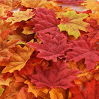 Artificial Maple Leaf Autumn Fall Colored Leaves for Wedding Decorations Halloween Party Thanksgiving Day Decor