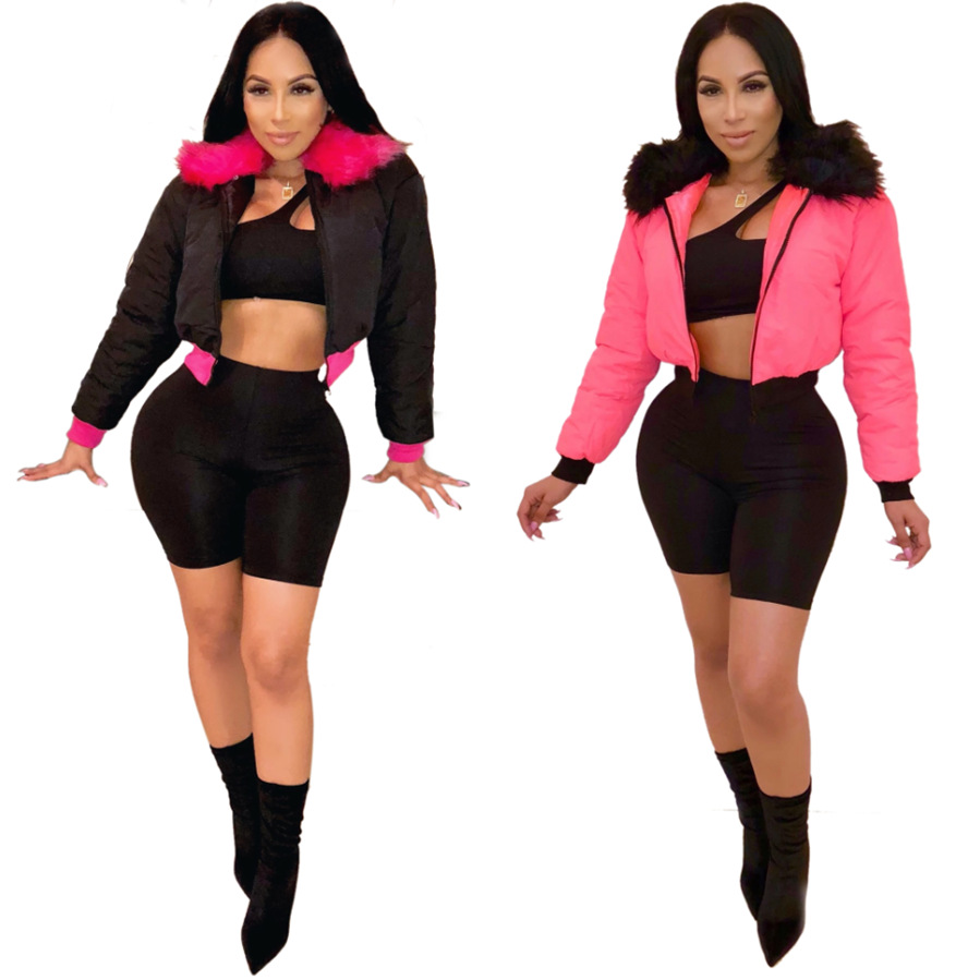 2019 ผู้หญิงฤดูหนาวเสื้อขนสัตว์ 2020 ผู้หญิงสะท้อนแสงเสื้อผ้าผู้หญิงเสื้อพัฟฟองเสื้อ