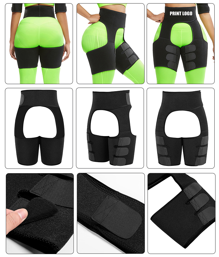 New Listing Black Neoprene Abdominal And Leg Tummy Control Women Private Label Waist Shaper Shapewear