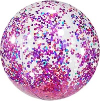 Pool Candy Colorful Glitter Inflatable Beach Ball PVC Water Toys for Holiday