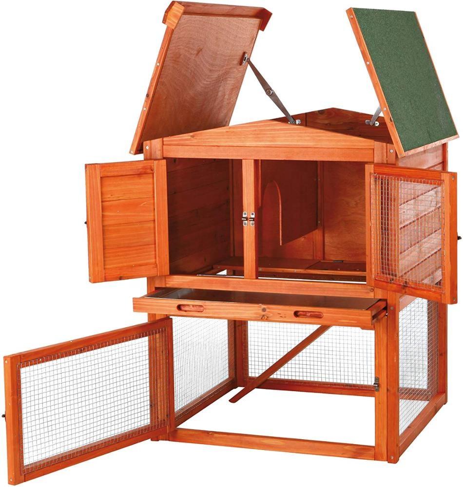 Gallinero de madera para exteriores, jaula para aves de corral, gallinero con valla de alambre