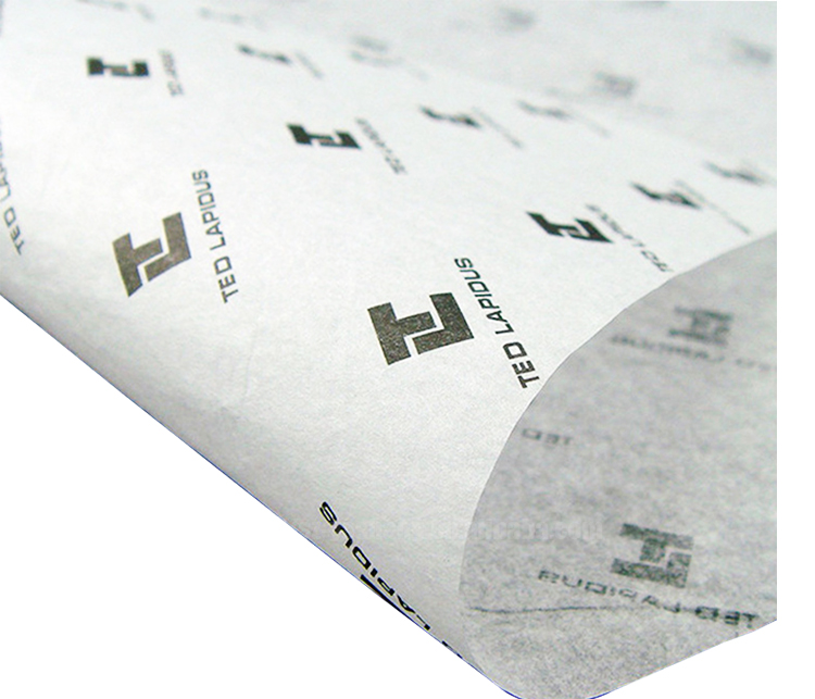 Luxurious Good quality 17g <strong>custom</strong> <strong>printed</strong> black logo moisture proof wrapping gift white <strong>tissue</strong> <strong>paper</strong>