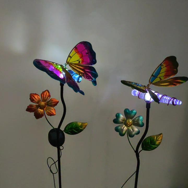สวนไฟ LED Garden Light Stake พลังงานแสงอาทิตย์สวนพลังงานแสงอาทิตย์