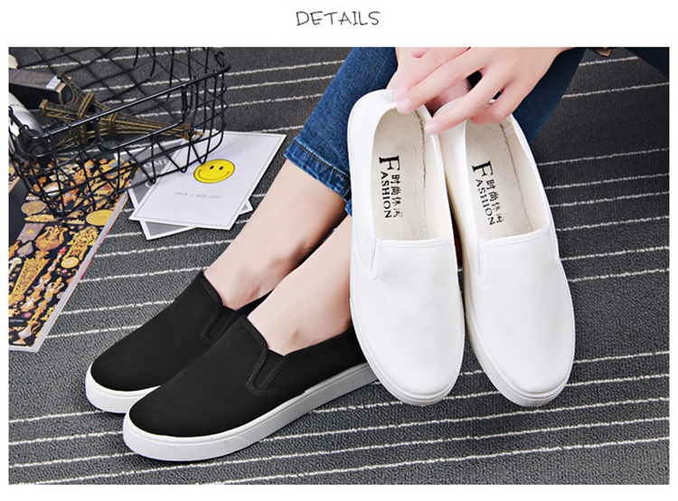 Lightweight Boat Barefoot Moccasins Low Top Plain Women White Canvas Loafers