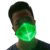 Glasfaser Luminous 7 Farbe Festival DJ Party in die Dark Light up Glow LED Rave Maske