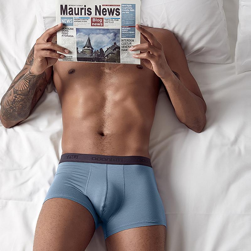 Accept small moq good quality boxer men underwear
