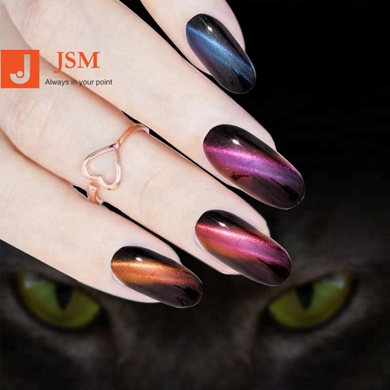 Salón magnético 3D ojo de gato efecto polvo con el cepillo de polvo Gel de esmalte de uñas de arte brillo pigmento DIY decoración de uñas