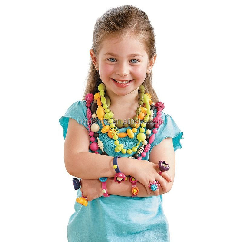 DIY Jewelry Kit Pop Snap Bead multi shaped bead without string for kids