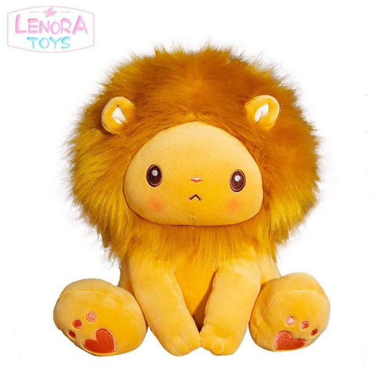 Cartoon sitting lion doll  plush bed forest animal stuff lion  doll pillow cute sleep toy boy and girl birthday present plush