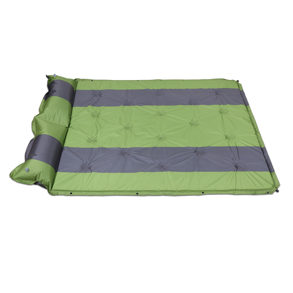 SPWE- 1602 Double Outdoor Automatic Inflatable Sleeping Mat With Attached Pillow