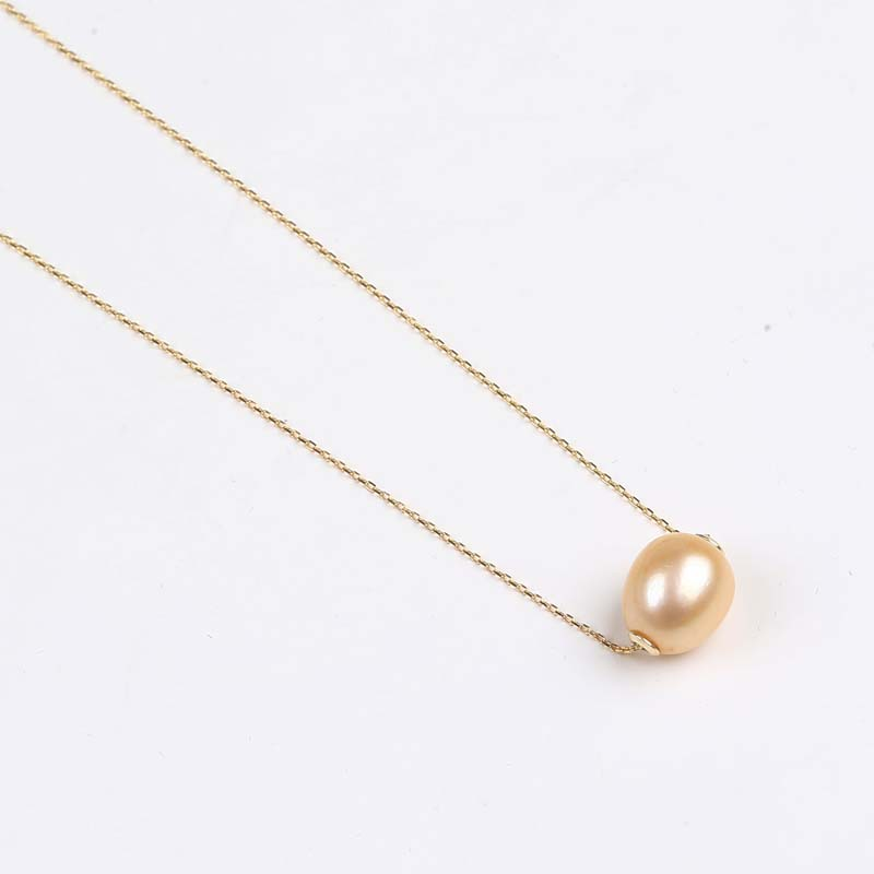 freshwater pearl Bead 925 sterling silver necklace