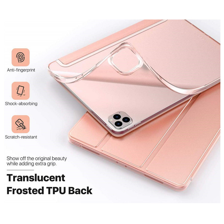 MoKo Shockproof Tri-fold Soft TPU Slim Smart Cover for iPad Pro 12.9 2020
