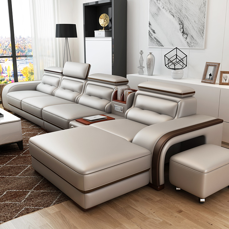 On Sales Fancy New Model 4 Seater Genuine Leather Sofa Living Room  Furniture - Buy Modern Leather Sofa,Living Room Furniture,Living Room Sofa  Product ...