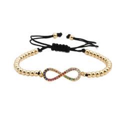 Braided Adjustable Rope Wrist Number 8 Bracelet Co