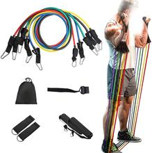 Gym Fitness Ausrüstung Stretch Training <span class=keywords><strong>Bands</strong></span> 11Pcs Resistance Band Set Yoga Pilates Abs Rohr Übung Workout <span class=keywords><strong>Bands</strong></span>