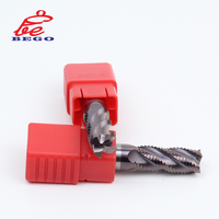 CNC HRC55 Portable Tialn Solid Carbide Flat Roughing 12mm End Mill Milling Cutter Tool for Machine