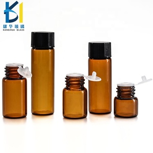 1ml 2ml 3ml Black Caps Amber Glass Mini Sample Vial Essential Oil Glass Bottle With Dropper Or Reducer