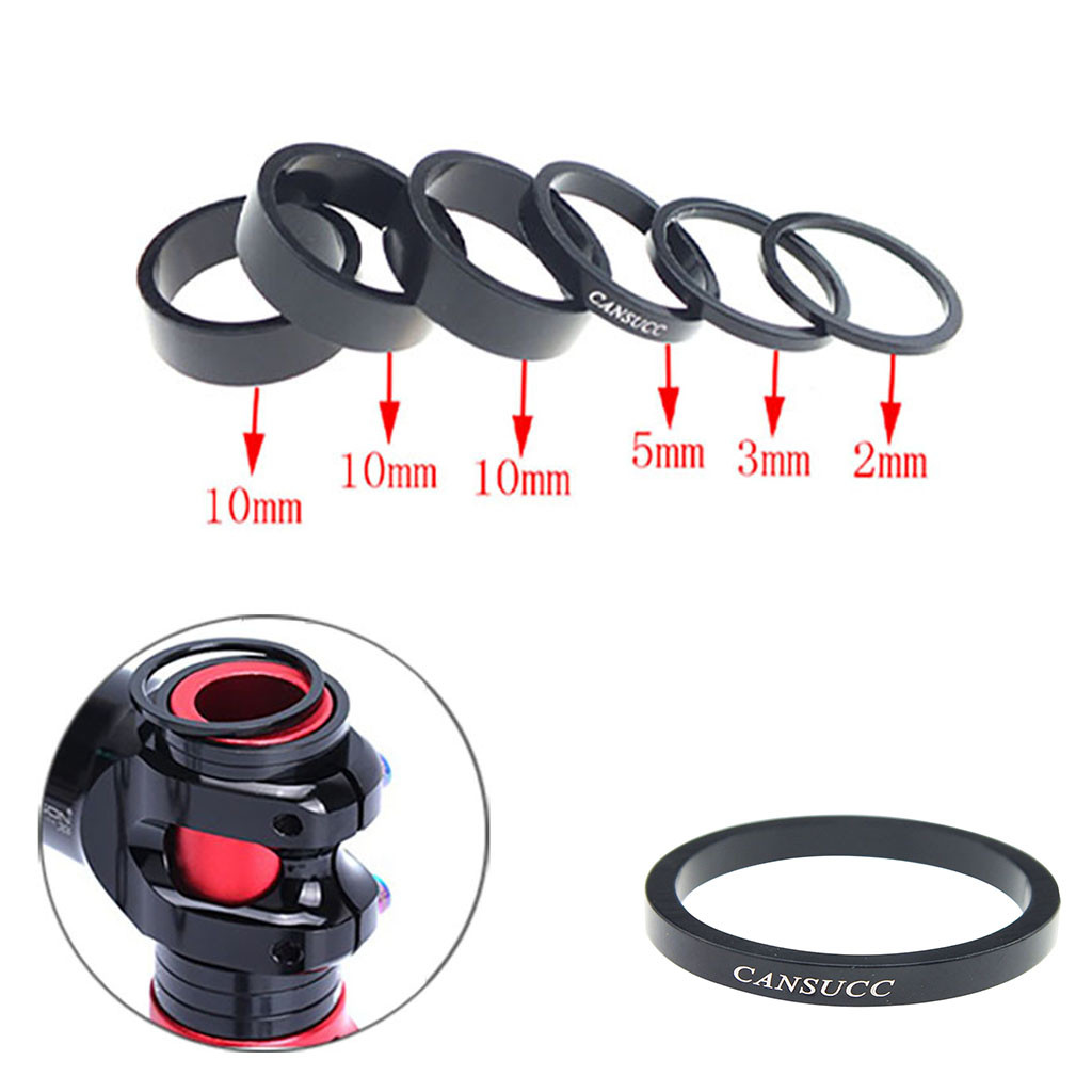 2 Pcs 10mm Aluminum Mountain Road Bike Bicycle Cycling Headset Stem Spacers MUV