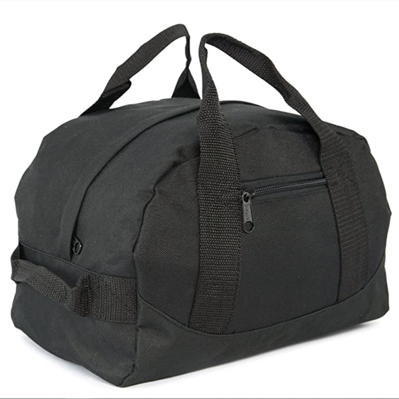 product-Black Color Convenient Two Tone Duffle Bag-GF bags-img