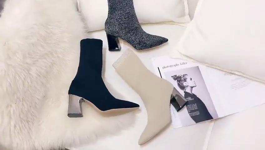 2020 nouvelle Arrivée Dames Bottes À Talons Hauts Printemps Hiver Bottes Femmes Chaussures