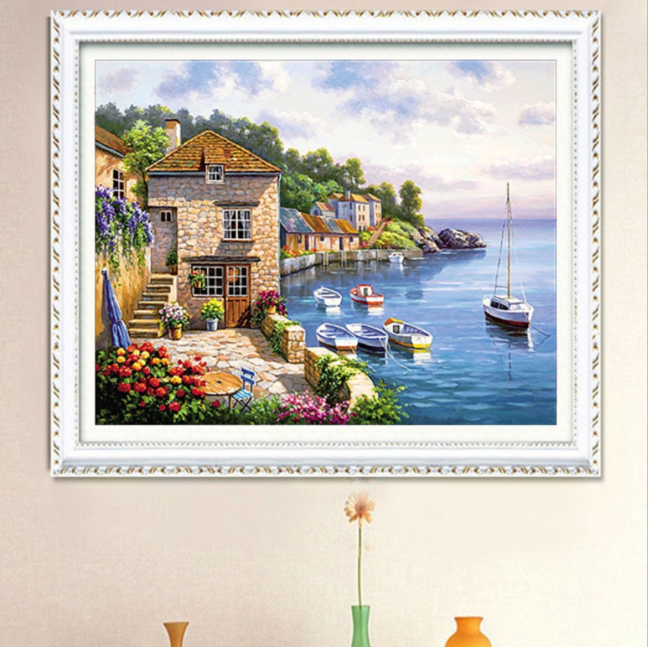 Home Hotel Restoran Dekorasi Cross Stitch Menjahit Cross Stitch Set