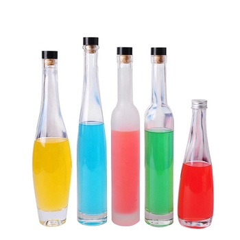 Wholesale 200ml 375ml 500ml Glass Champagne Bottle Frosted Glass Wine Bottle for Cocktail Red Wine