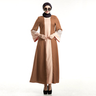 Long Dress Cardigan Chocolate Color Islamic Clothing Long Sleeve Maxi Dress For Muslim Women