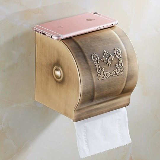 Export quality retro modern design useful home decor tissue roll paper box