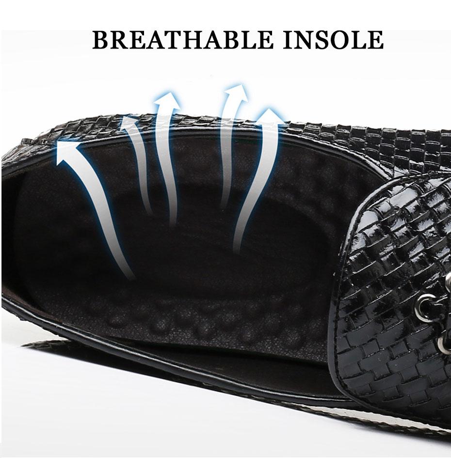 Mocassins à bout pointu respirants pour hommes, chaussures de conduite, décontractées et à la mode, pour tenue de mariage,