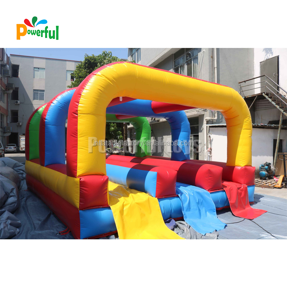 Colorful short waterslide inflatable water slide for pool