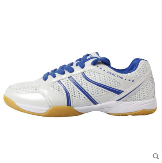 Reacort Table Tennis Shoes - Groovy - Blue and White - Sizes 4.5-12 - Stylish High Performance Ping Pong Shoes