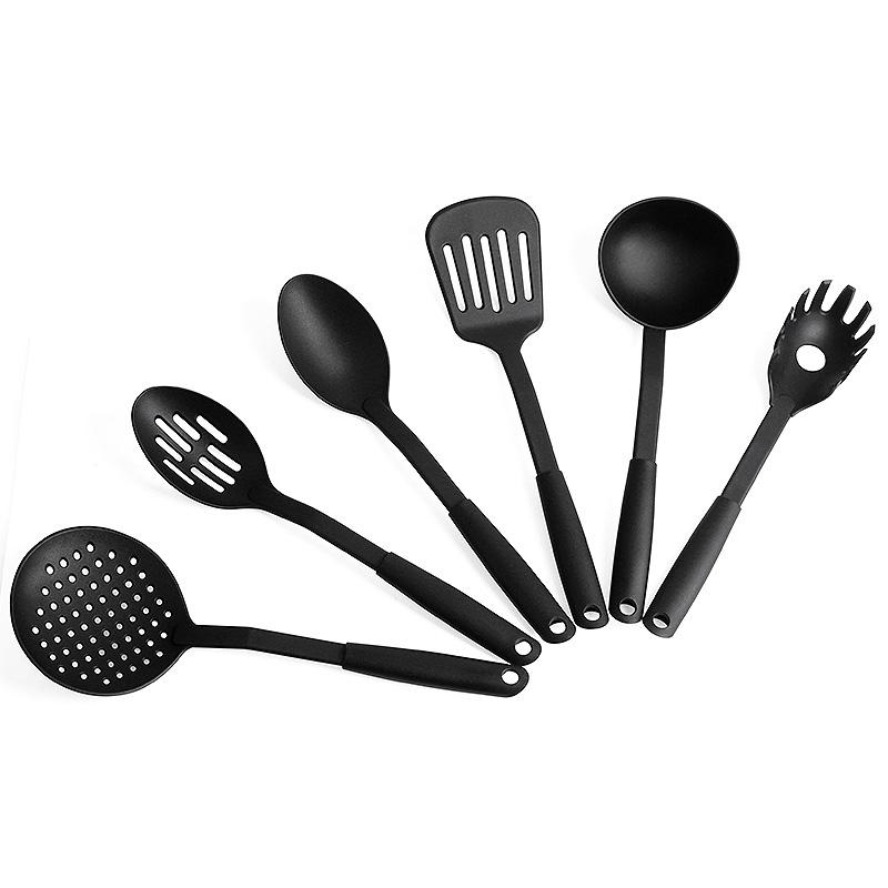 बरतन slotted टर्नर सेट 6pcs nonstick नायलॉन खाना पकाने के बर्तन के लिए रसोई
