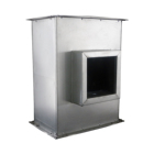 Ventilation acoustic air duct HVAC system rectangular with inner lining