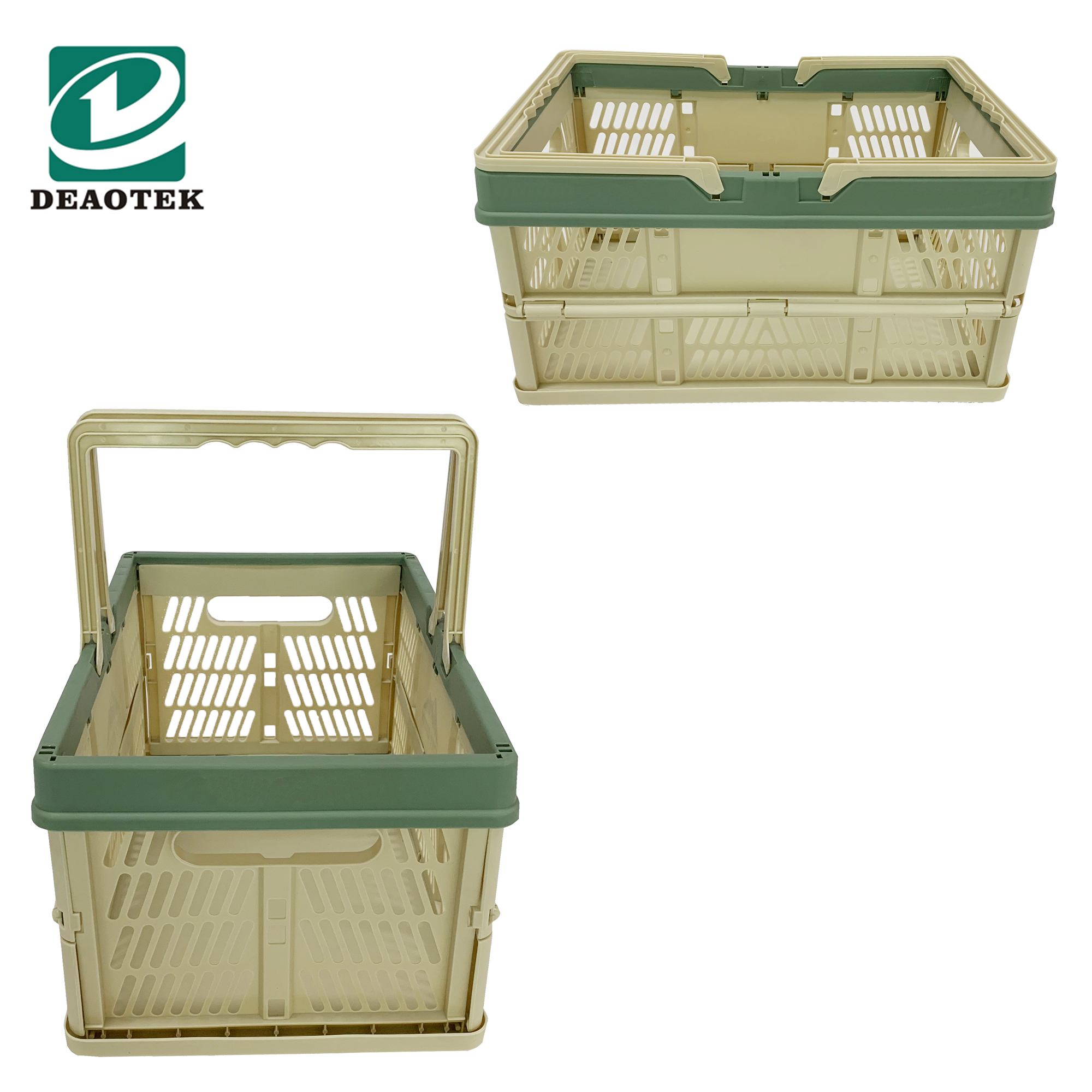 Wholesale Plastic Frame Folding Cloth Cosmetic Reusable Shopping Basket