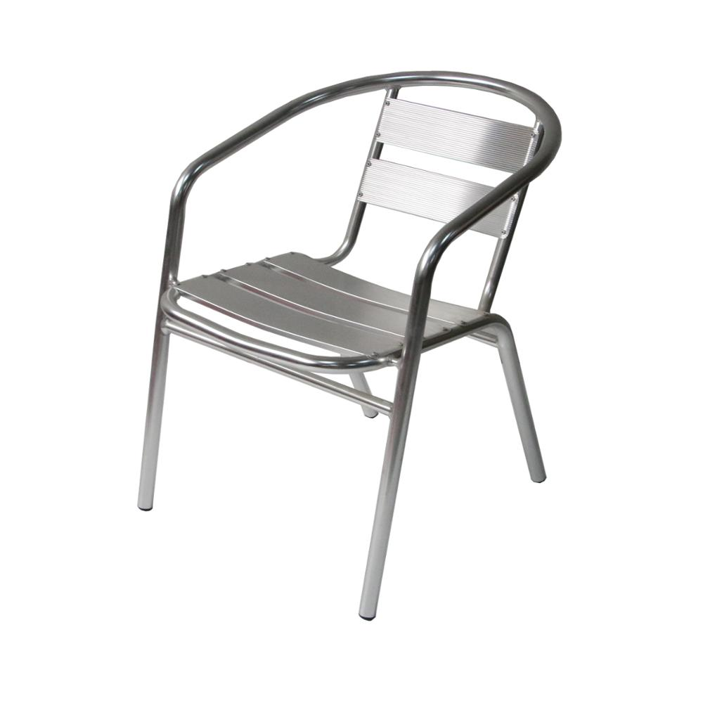 Moderne D'accoudoir Empilable Patio Fonte Meubles De Jardin En Plein Air En Aluminium Chaise