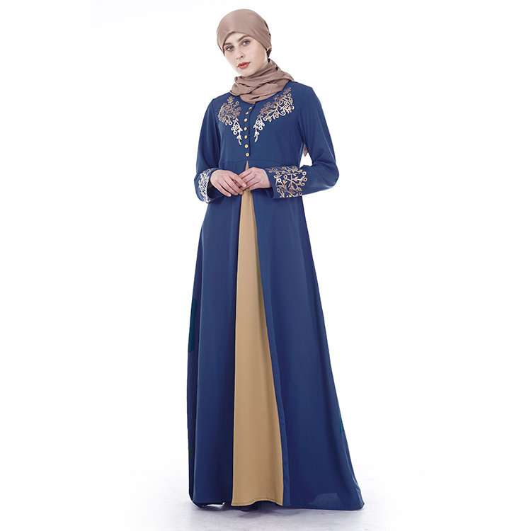 New Abaya Fashions Adult Long Sleeve Dresses Simple Maxi Robe Abayas For Women Muslim Dubai