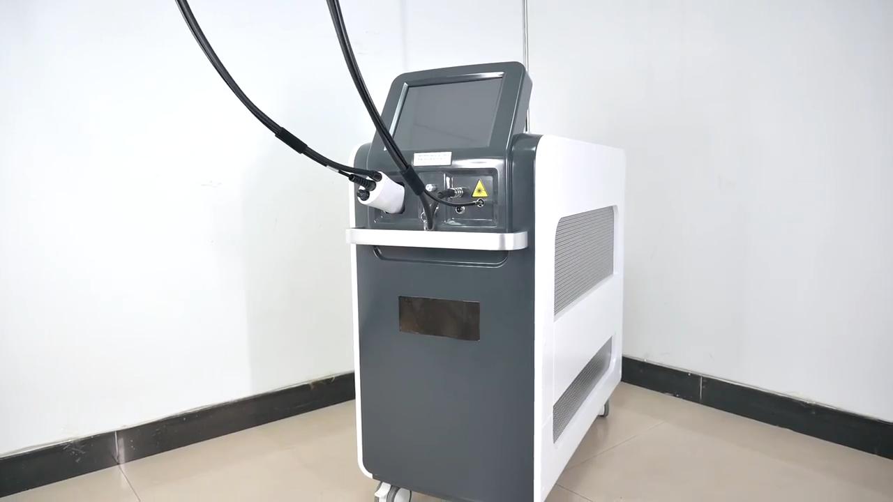 Di raffreddamento del ghiaccio 755nm Alessandrite laser 1064nm nd Yag Laser Per La Rimozione Dei Capelli con CE