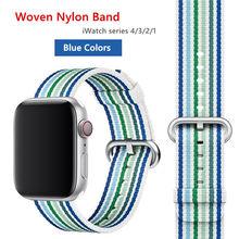 Нейлоновый ремешок для Apple Watch 38 мм 42 мм iWatch 5 44 мм 40 мм спортивный тканевый браслет с пряжкой ремешок для Apple watch 5 4 32(Китай)