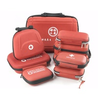 Empty Red Hard Eva Mini Emergency First Aid Kit /box For Car Travel Sport