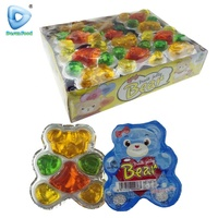 New bear shape assorted fruit jelly pudding
