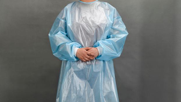 不織布使い捨てブルー手術衣ppe分離ガウン