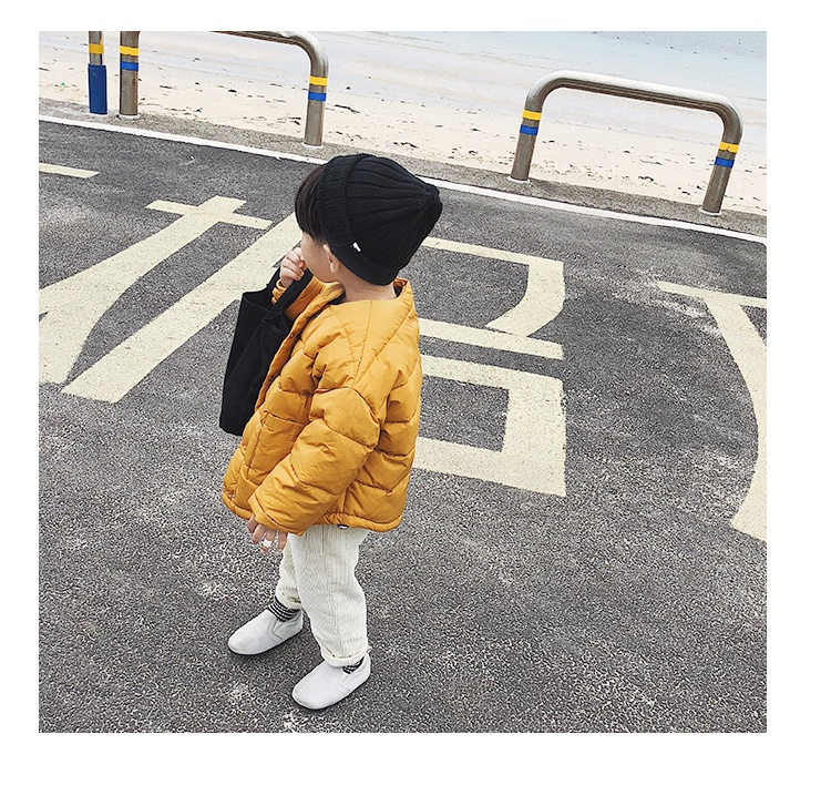Korean Style Fashion Nylon Windbreaker Children Down Wear Baby Boy Jacket