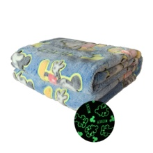 Super weiche glow in the dark flanell korallen fleece sofa bett <span class=keywords><strong>decke</strong></span> werfen für kinder kinder