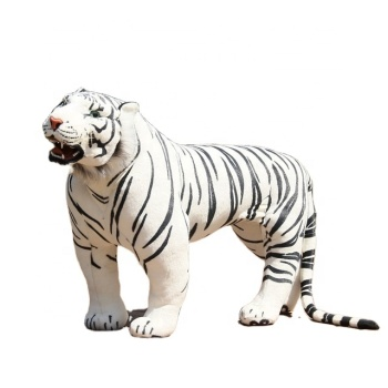 giant realistic plush tiger lifesize plush standing white tiger stuffed toy