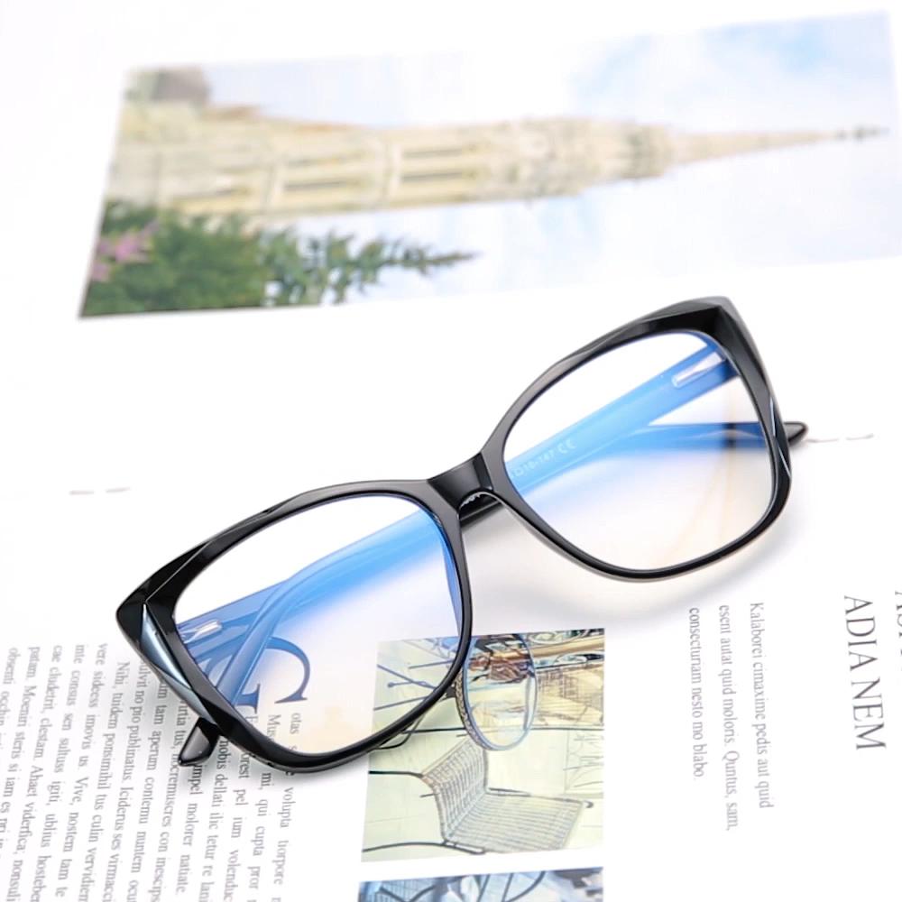 Anti blue light blocking glasses Europe design handmade tr glasses