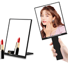 Frame Mirror Compact Mirrors 135MM*175MM 180G Square Hand Held Plastic Single Side Frame Folding Foldable Handle Custom Cosmetic Compact Sublimation Mirror