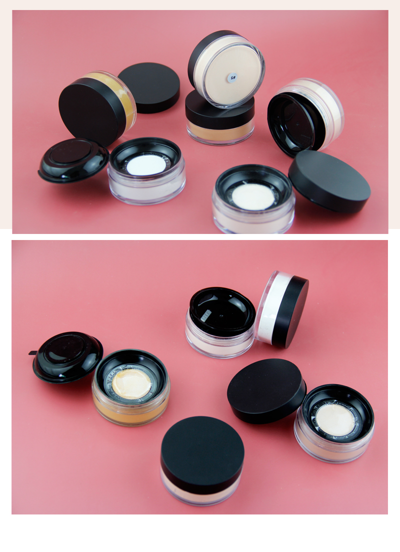Kosmetik Makeup Bubuk Foundation Wajah 8 Warna Jelas Pengaturan Loose Powder Jar Private Label